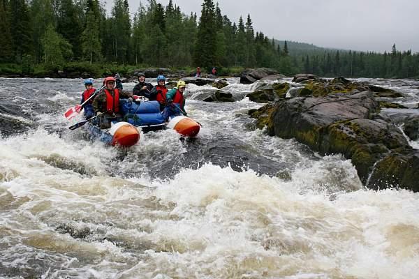 Сплав по реке Тумча в Карелии