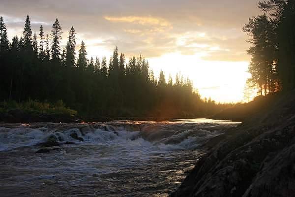Река Тумча в Карелии